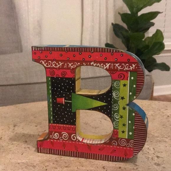 Decorative Metal Letter B